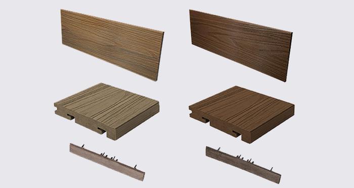 Composite Prime HD Deck Dual - Walnut / Oak Composite Decking (2 Pack) - Descriptive 8