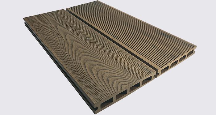 Composite Prime HD Deck 3D - Golden Oak Composite Decking (2 Pack) - Descriptive 3