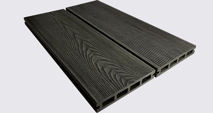Composite Prime HD Deck 3D - Black Oak Composite Decking (2 Pack) - Descriptive 3