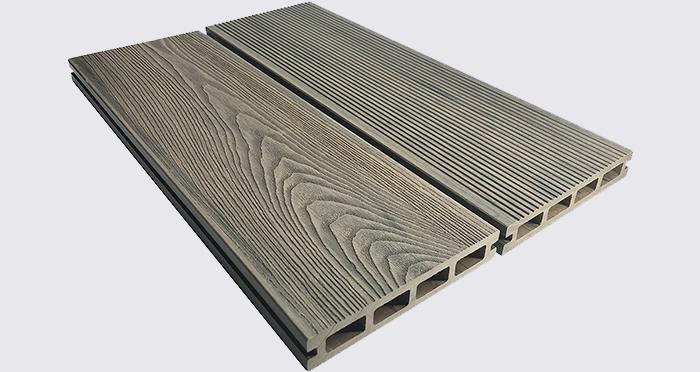 Composite Prime HD Deck 3D - Weathered Oak Composite Decking (2 Pack) - Descriptive 3