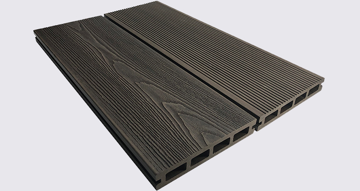 Composite Prime HD Deck 3D - Burnished Oak Composite Decking (2 Pack) - Descriptive 3