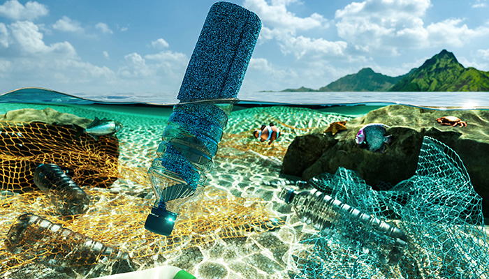 Carpet made from recycled fishing nets